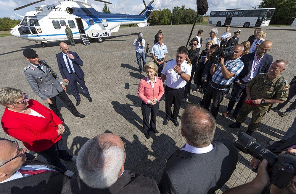 German Defense Minister visit